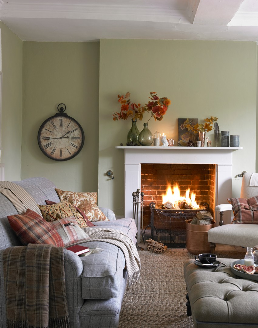 Compact Country Living Room With Open Fire Part 61