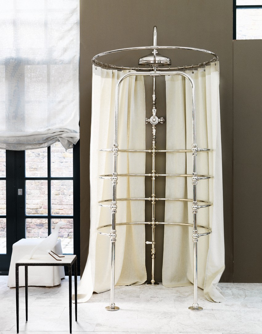 Elegant Bathroom with Nickel Shower