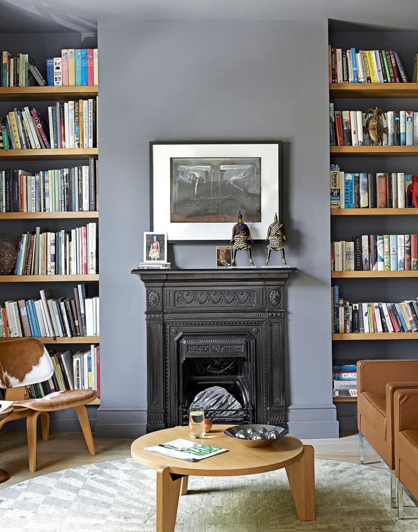 Use paint to create a living room brimming with character for Alcove ideas living room