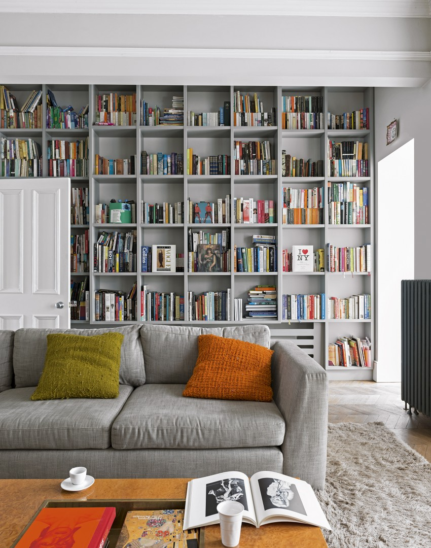 Use paint to create a living room brimming with character Where to put a bookcase in a room