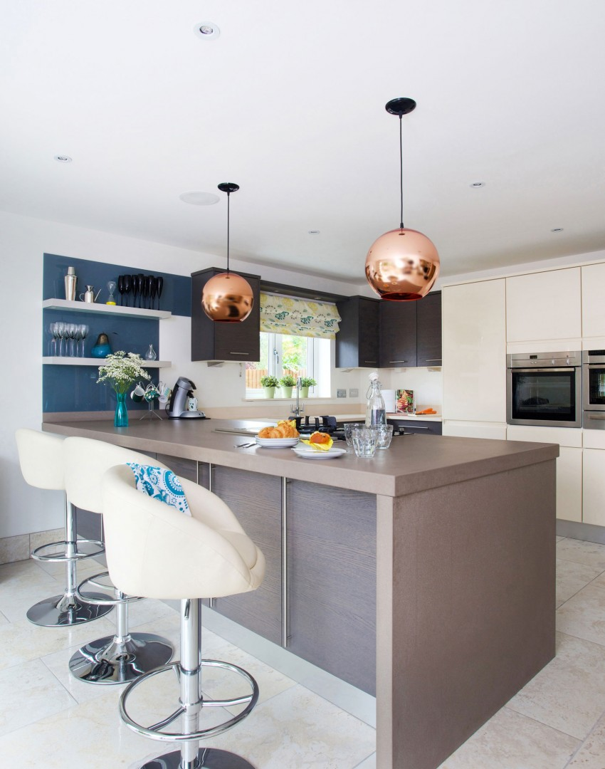 Uncategorized Kitchen Centre Island let kitchen islands take centre stage the room edit modern style with globe pendant lights and white bar stools