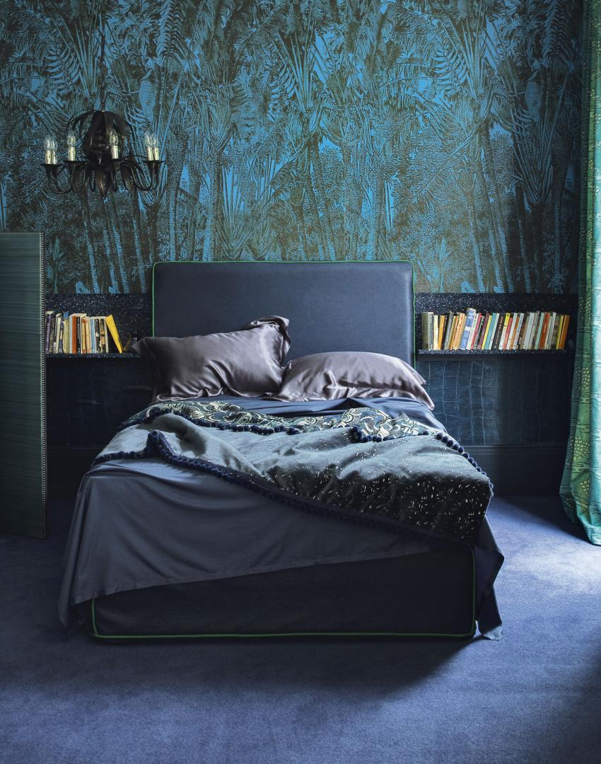 Make your bedroom gorgeous with wallpaper the room edit - Blue bedroom wallpaper ideas ...