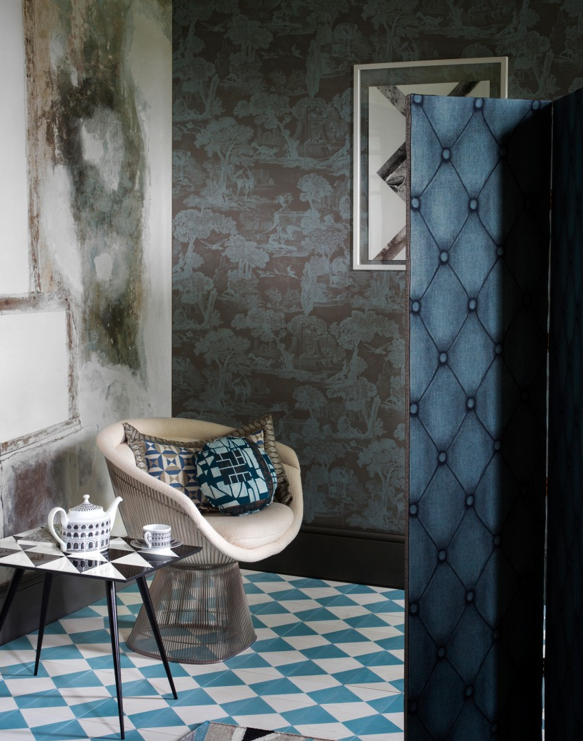 Wallpaper Designs For Living Rooms Transform Your Living Room With Statement Wallpaper The Room Edit