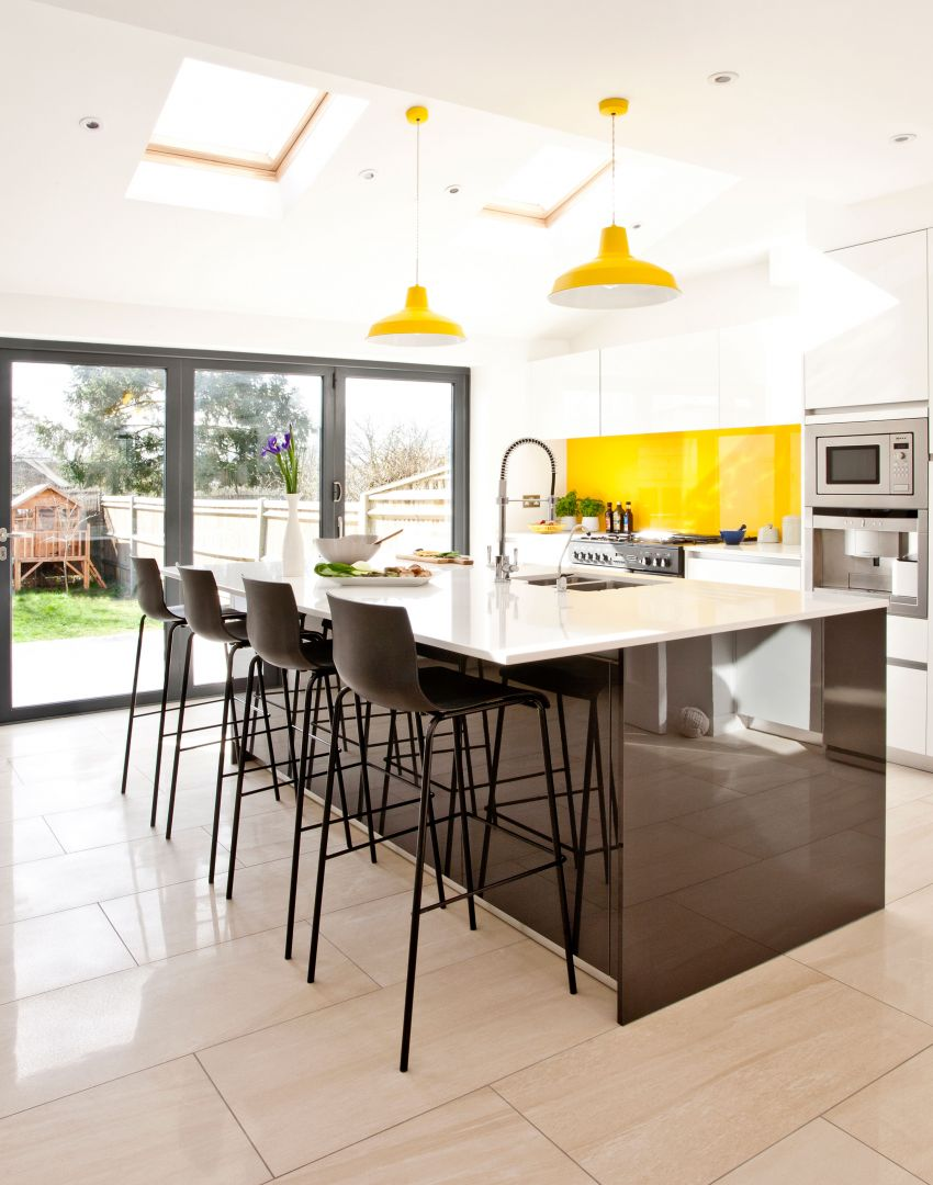 Convert Kitchen Bar To Island : White Kitchens With The Wow Factor Room Edit