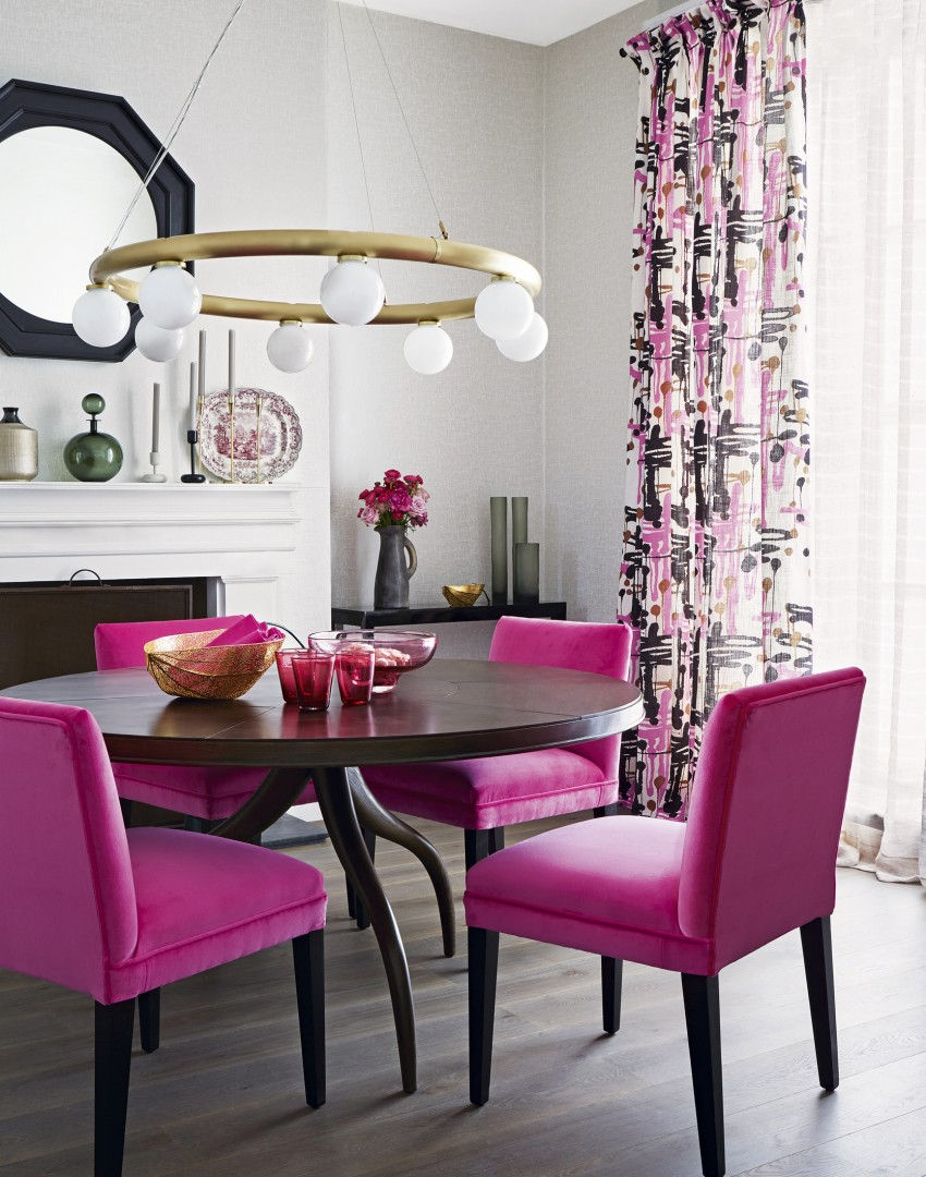 use furniture to make a statement in your dining room - the room edit