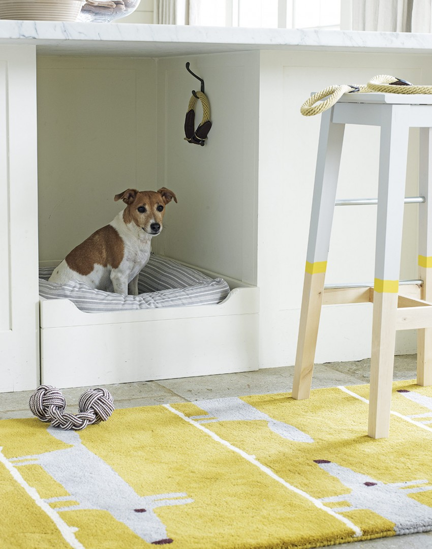 Modern Kitchen with Built-in Pet Bed