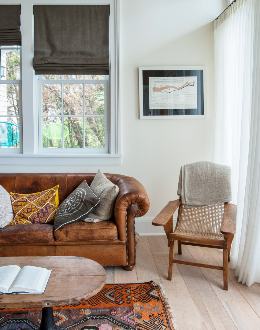 Step inside this bold and beautiful family home in long for Sofa hecho de cojines