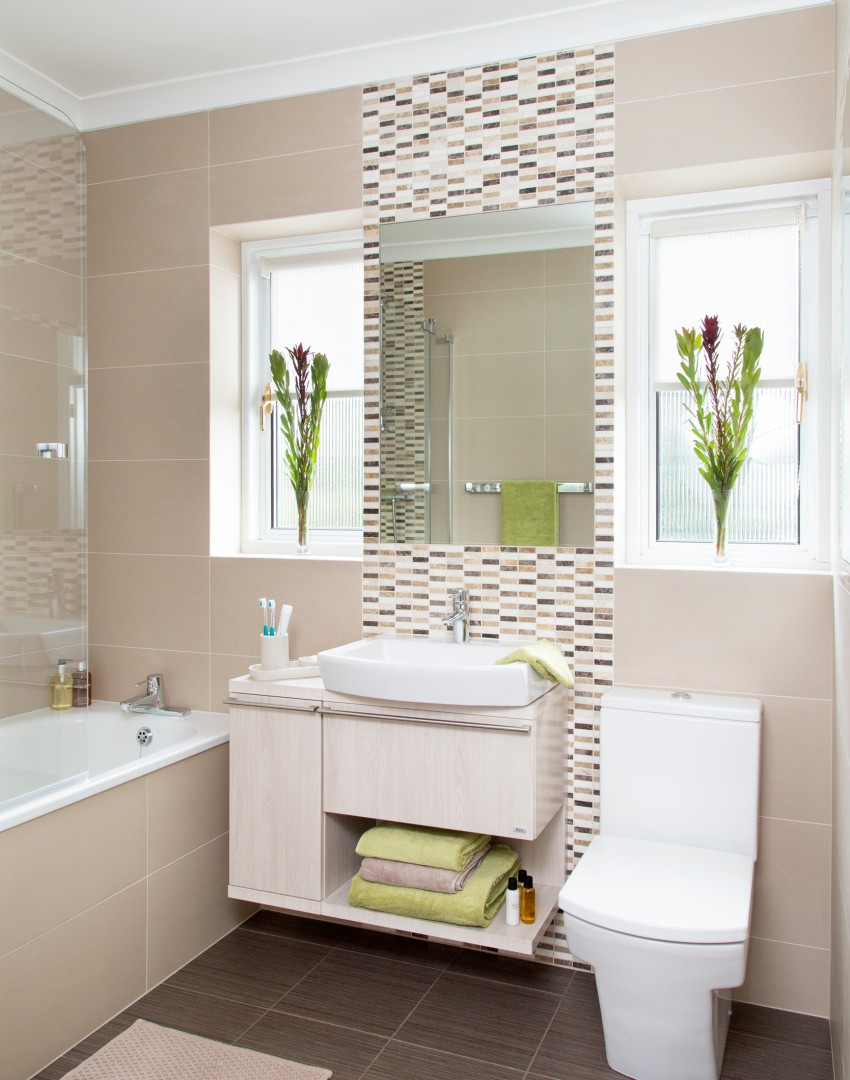 Accessorise your way to a new look bathroom the room edit for Taupe bathroom ideas