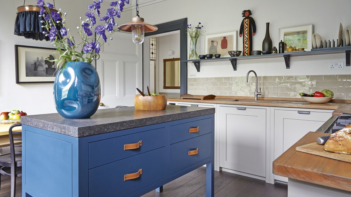 Explore This Hand Crafted Blue Accented Kitchen The Room Edit
