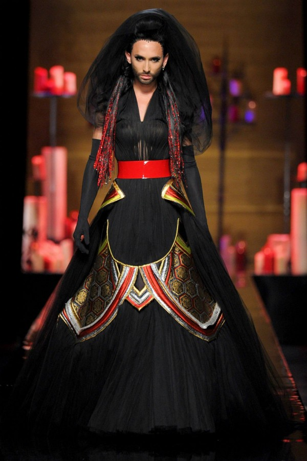 Conchita Wurst at Jean Paul Gaultier couture