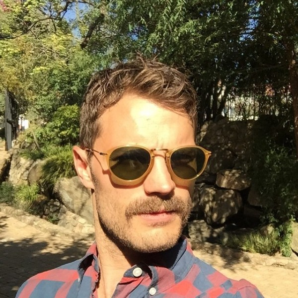 Jamie Dornan has grown a very suspect moustache for his latest film but really, is there ANY need?!
