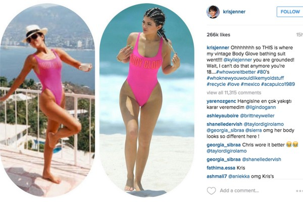 Kris Jenner called our Kylie for stealing her swimsuit