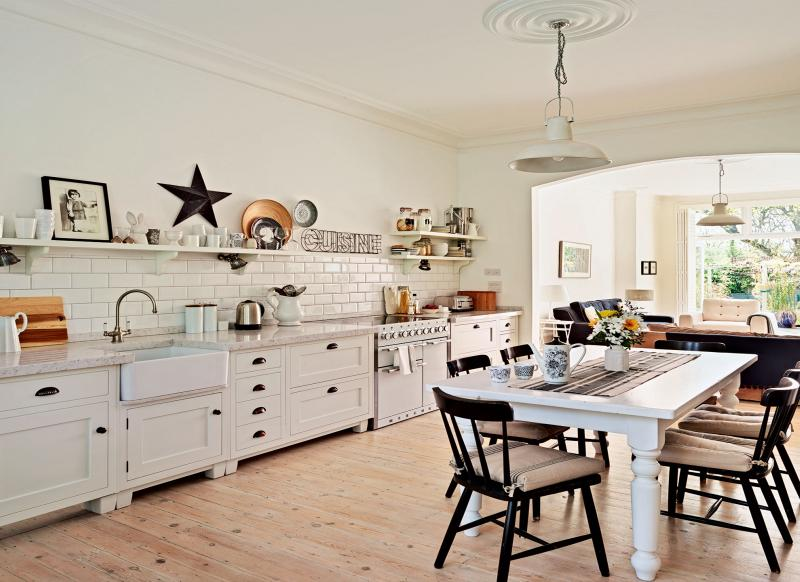 industrial country kitchen look around this open plan country style family kitchen 1834