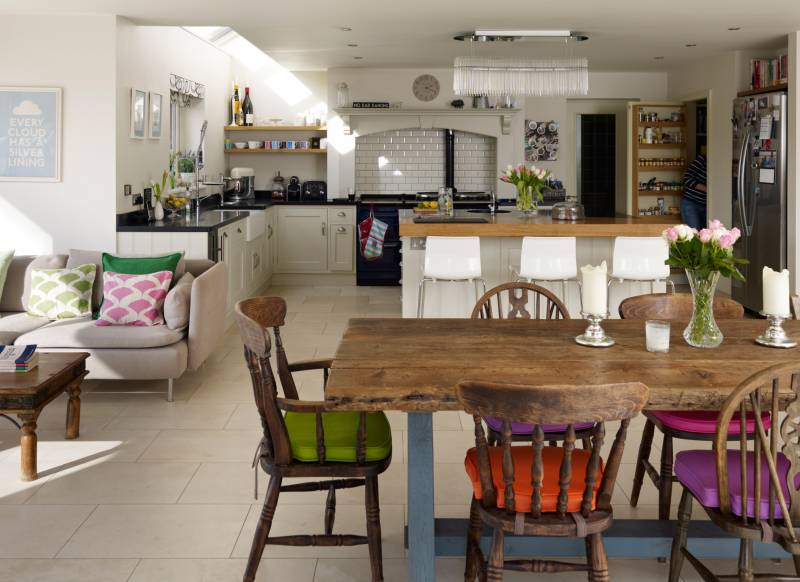 kitchen diner family room ideas open up with space enhancing ideas for kitchen extensions 792