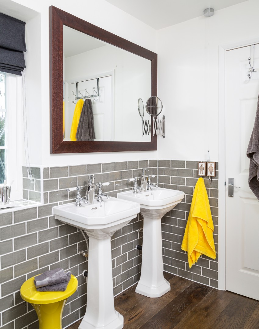 gray and yellow bathroom ideas accessorise your way to a new look bathroom the room edit 23885