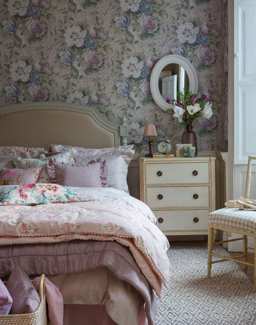 pink floral bedroom ideas declutter the easy way with practical bedroom storage 16741