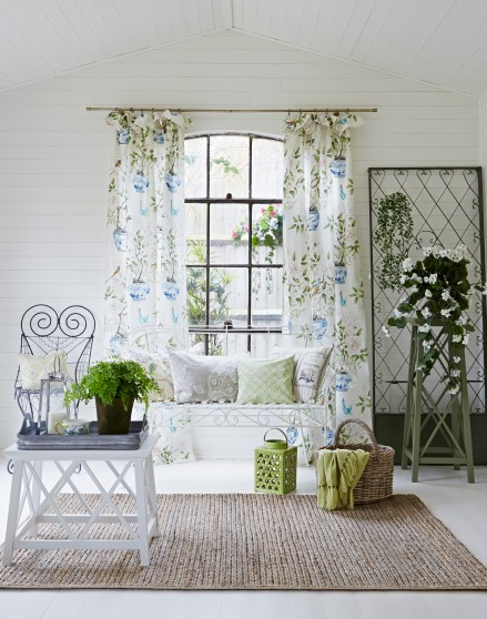 White Conservatory With Floral Curtains The Room Edit